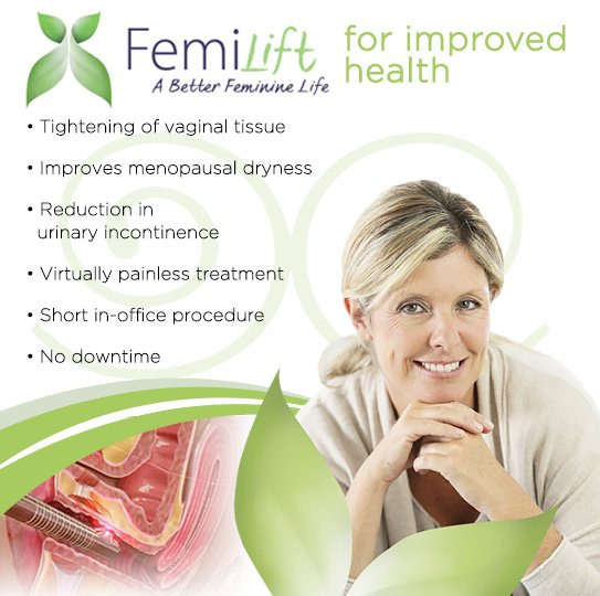 Experience vaginal rejuvenation with FemiLift.